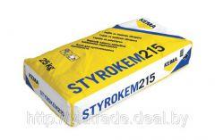 Клей для приклеивания пенопласта STYROKEM 215, 25 кг.