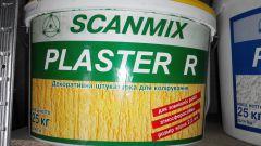 Акриловая короед Scanmix PLASTER R зерно 2,5 мм., 25 кг.